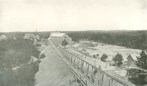 Micmac Gold mine on the Leipsigate property
