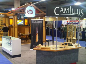 The Camillus booth at the 2011 Shot Show