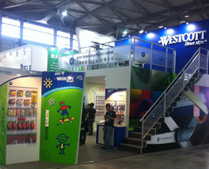 The Acme United booth at Paperworld China 2011