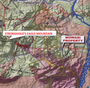 Eagle Mountain and Mowasi map