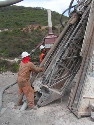 Drill rig at Cerro Jumil