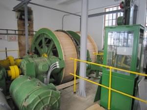 The hoisting mechanism at Strieborná