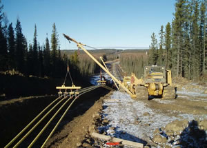 Field operations of Enterprise constructing small diameter pipelines