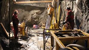 Underground drilling activities at Strieborná