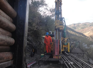 Drilling activities at Dios Padre