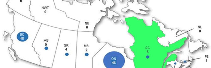 Map Quebec Licensed Producers
