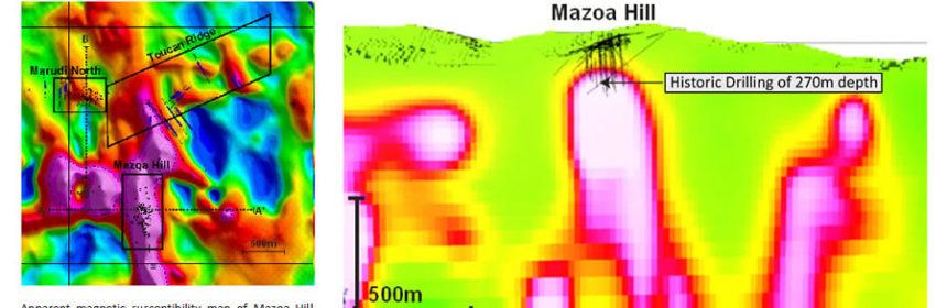 Guyana Goldstrike Toucan Ridge map