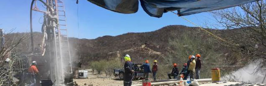 Drilling activities at the Pilar Gold Project
