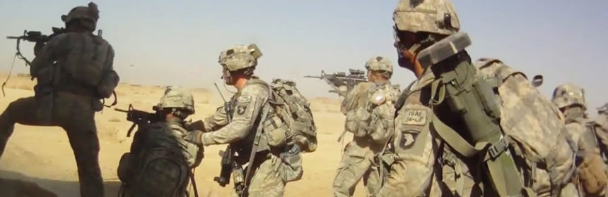 U.S. soldiers in action