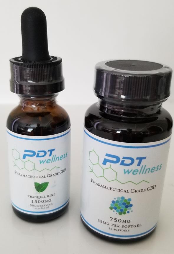 Preferred Dental PDT Wellness CBD bottles
